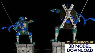 💥 Download STL Leonardo Tortugas ninja / Ninja Turtles (TMNT) 3D Model Fanart version