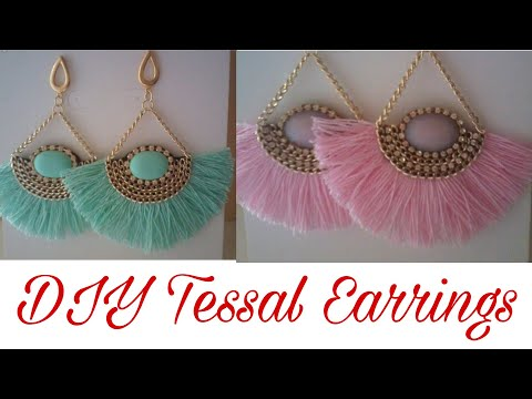 DIY tassel Earrings || Handmade Silk thread Tassel Earrings || How to Make Tassels Earrings at Home