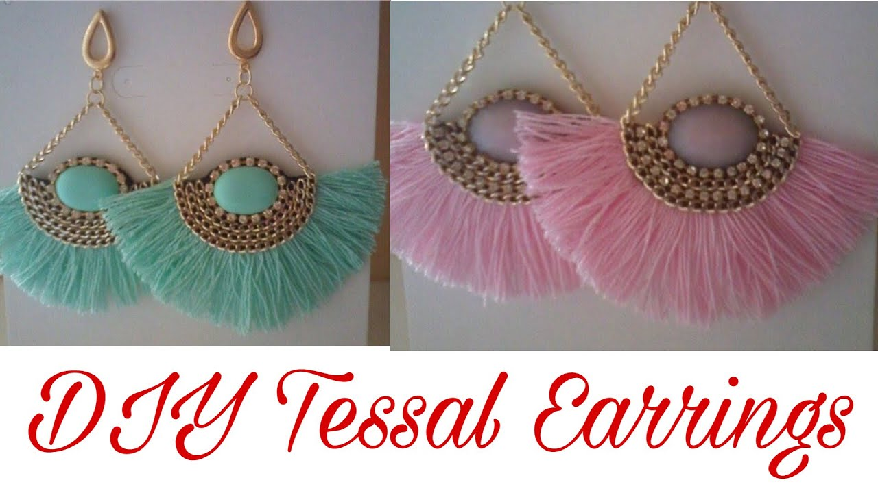 Diy Tassel Earrings Handmade Silk Thread Tassel Earrings How To Make Tassels Earrings At Home