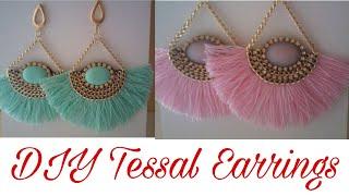 DIY tassel Earrings || Handmade Silk thread Tassel Earrings || How to Make Tassels Earrings at Home
