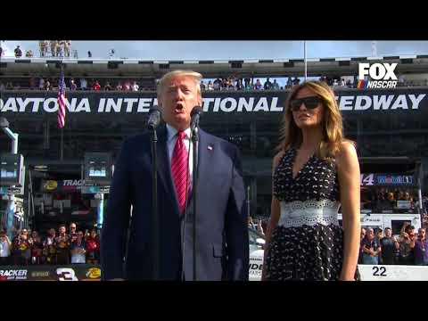"""President Trump Delivers """"Gentlemen, Start Your Engines"""" To Kick Off Daytona 500"""
