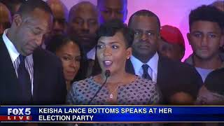 Keisha Lance Bottoms speaks at her election party