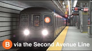 ⁴ᴷ R68 and R68A (B) Trains running via the Second Avenue Line