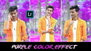Purple Color Effect in Lightroom Mobile Editing || Purple Color Correction Photo Editing in Hindi
