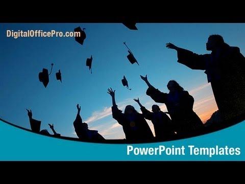 Graduation Day PowerPoint Template Backgrounds - DigitalOfficePro