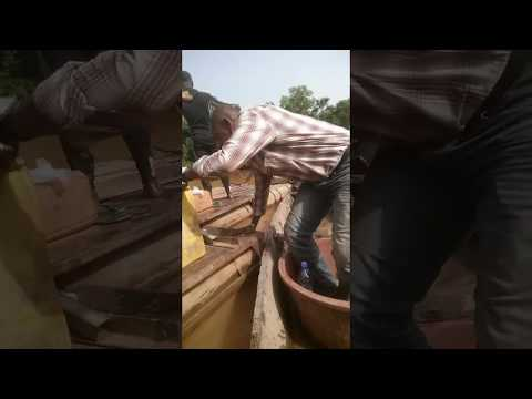 Gold Dredging  Mining in Mali, West Africa