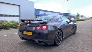 Nissan GT-R Spec V - Brutal Accelerations & Drag Race!