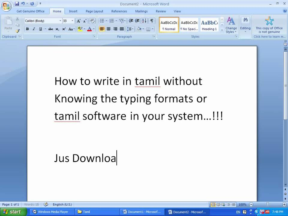How to Type Tamil in Pc  YouTube
