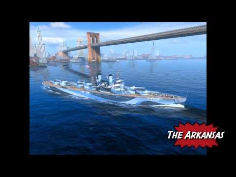 Arkansas Tier 4 USN Premium Battleship World of Warships Blitz