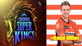 Chennai super kings New player David willey 201...