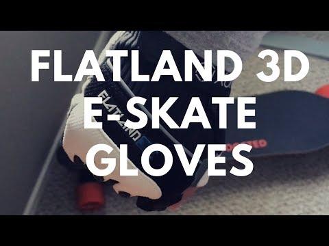 Reviewed► Flatland 3D E-Skate Gloves For Boosted Board Evolve Etc 🧤