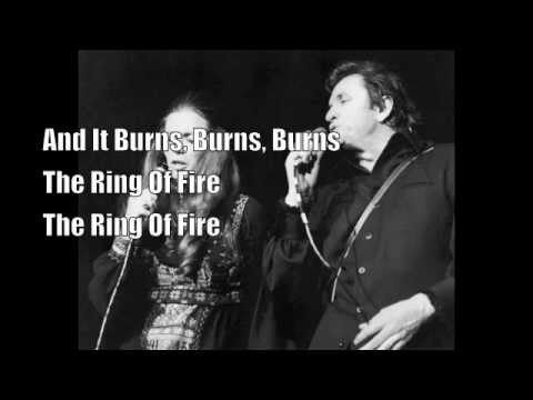 Youtube Burning Ring Of Fire Lyrics