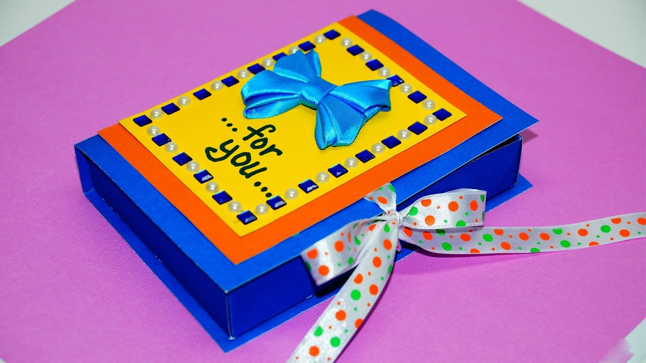 Diy Paper Crafts Idea Gift Box Making With Paper Easy Gift Box