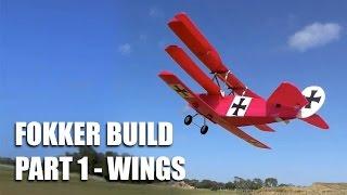 Fokker Dr 1 build Part 1 - Wings