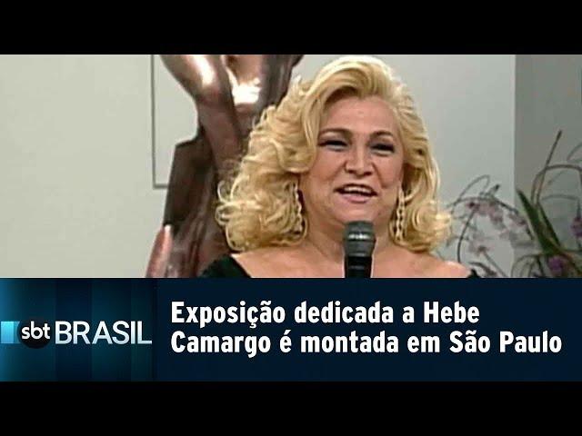 Exposição dedicada a Hebe Camargo é montada em São Paulo | SBT Brasil (15/02/19)