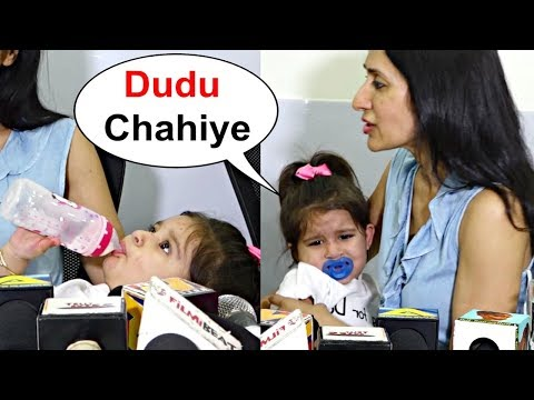 Karanvir Bohra Daughter Bella Crying For Milk In Middle Of Interview
