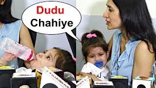 Karanvir Bohra Daughter Bella Crying For Milk In Middle Of Interview