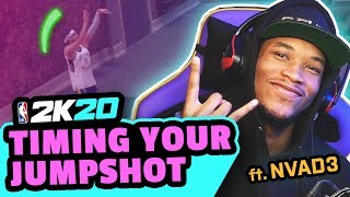 HOW TO TIME JUMPSHOTS with NO SHOT METER in 2K20 feat. NVAD3