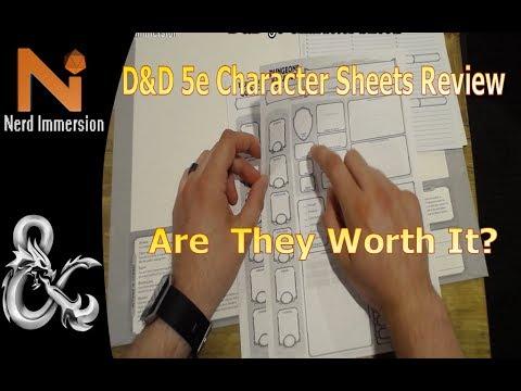 D&D 5e Character Sheet Folder Review | Nerd Immersion