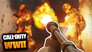 EXCLUSIVE COD WW2 GAMEPLAY: FLAMETHROWER KILLSTREAK, SHOTGUNS, MP40 MG42 AIRSTRIKES! WW2 Multiplayer