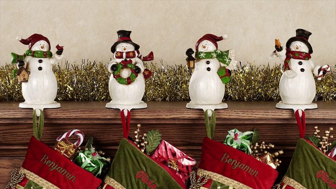 DIY Christmas Mantle Hanger - YouTube