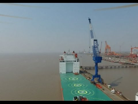 China's First Dual-Use Semi-Submersible Ship Put Into Use