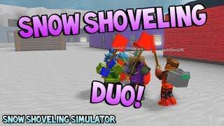 SNOW SHOVELING DUO! [Snow Shoveling Simulator ROBLOX]