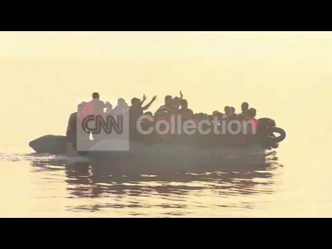 GREECE: MIGRANTS ARRIVE ON ISLAND OF LESBOS