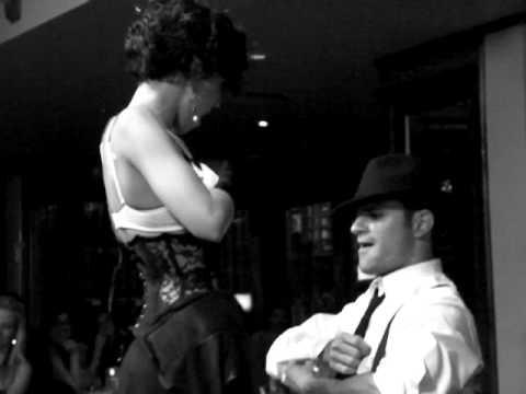 Christina DeRosa...and dancers strip tease at Cabaret Show in Beverly Hills!