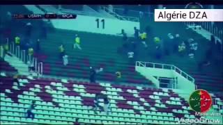 شجار عنيف بين أنصار مولودية الجزائر و اتحاد الحراش بملعب 5 جويلية 2016/08/27