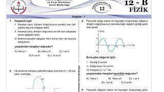 12+Mezun Fizik Meb Kazanım Testleri-12