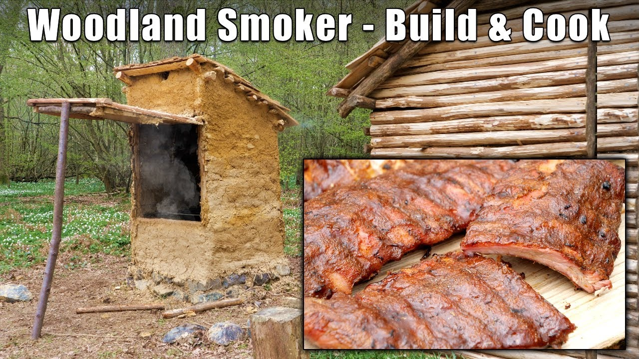 Woodland Smoker Build and Cook - BBQ Ribs & Chicken