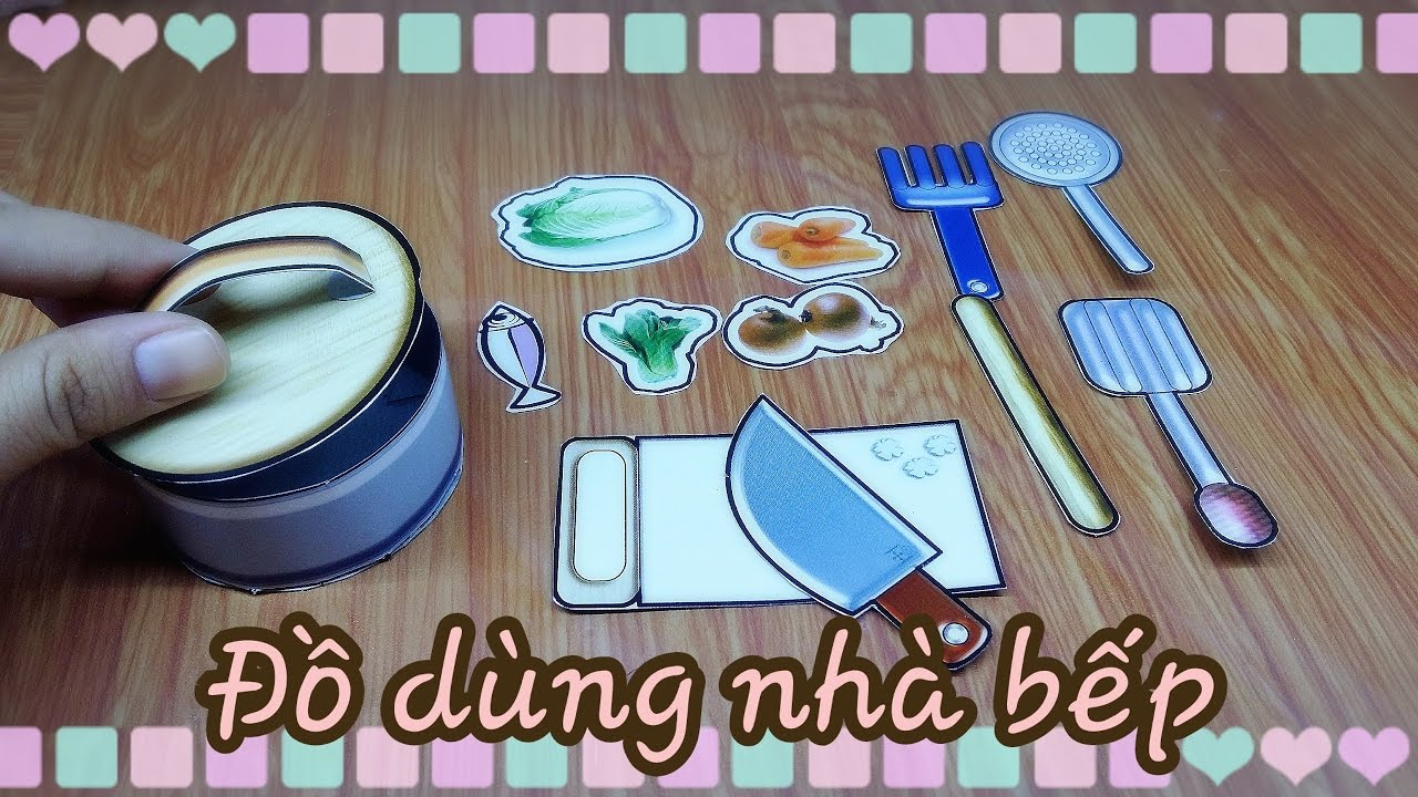 Diy paper craft l m c i n i v v t d ng nh b p ami for Diy crafts youtube channels