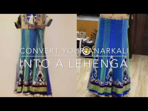 How to convert your anarkali into lehenga | DIY | INDIA