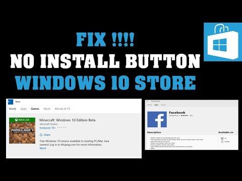 Fix !!No Install Button Windows 10 Store