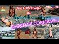 📍BIKINI BEACH WALK WITH ME & TOUR || AMAZING PADSTOW CORNWALL || ENGLAND TRAVEL VLOG 2021(4K)