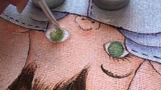 Como pintar olhinho verde