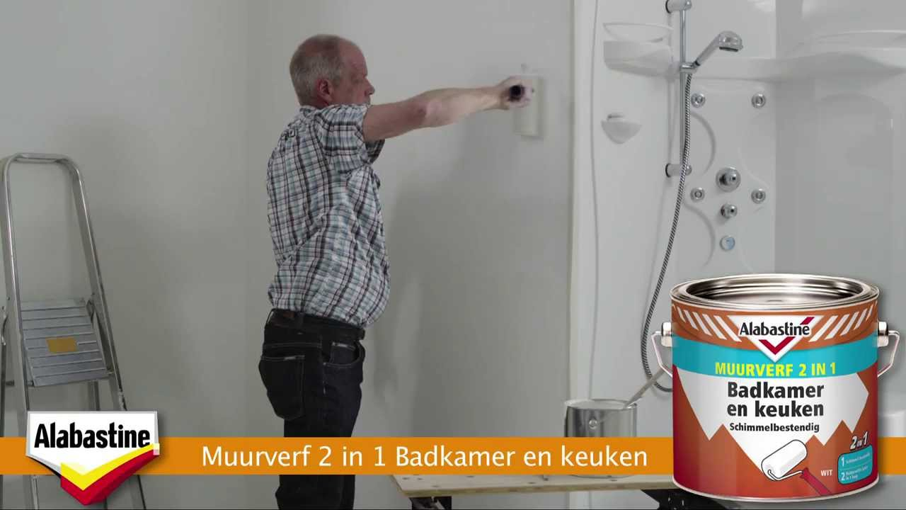 Muurverf Voor Badkamer : Alabastine schimmel in badkamer youtube