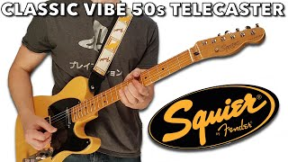 the Fender Squier Classic Vibe 50s Telecaster in Butterscotch Blonde is a Dream!