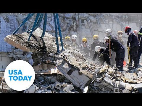 Media visits site of collapsed condo for the first time | USA TODAY
