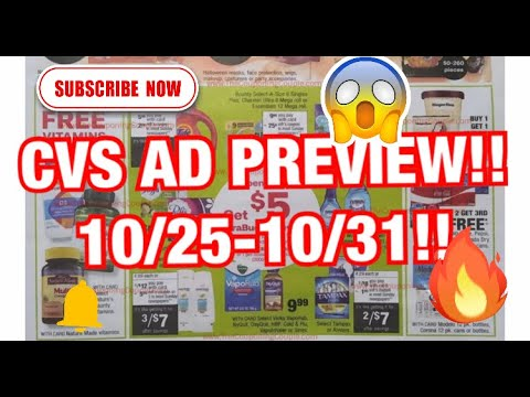 CVS AD PREVIEW  10/25  - 10/31/2020! SPEND $20 GET $5!!!! So Many Items Are Included! Deals Coming!