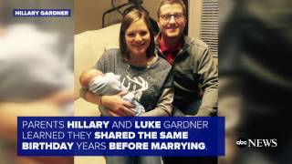 Newborn Shares Birthday With Mom And Dad