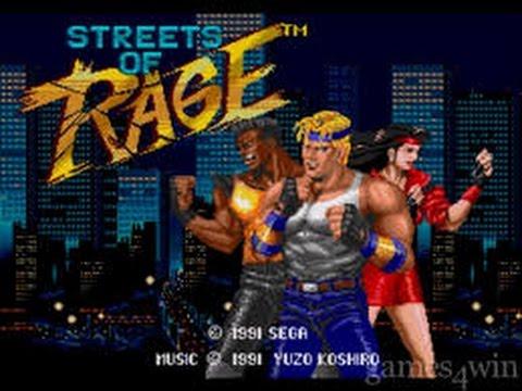 Classic (Arcade) Street of Rage Nintendo Wii Demo