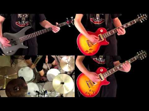 Rocket Queen Guns N' Roses Guitar Bass and Drum Cover