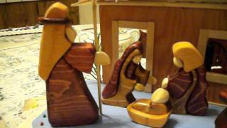 100 0598christmas - Nativity In Wood