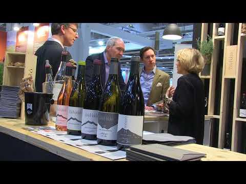 Valeria Agosta al Vinitaly 2018 presenta il vino Etna Doc Rosso, Mofete Rosso di Palmento Costanzo.