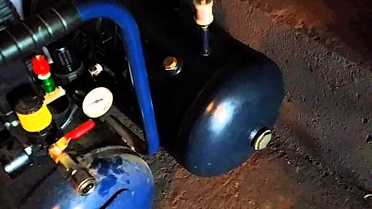 Using Extended Air Tank On Air Compressor Youtube