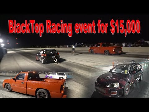 8 Second Honda H22 races AWD Chevy Silverado Ladybug! & more races of $15,000 competition