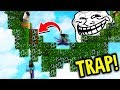 THIS FALL TRAP IS TOO GOOD Minecraft Skywars Trolling mp3