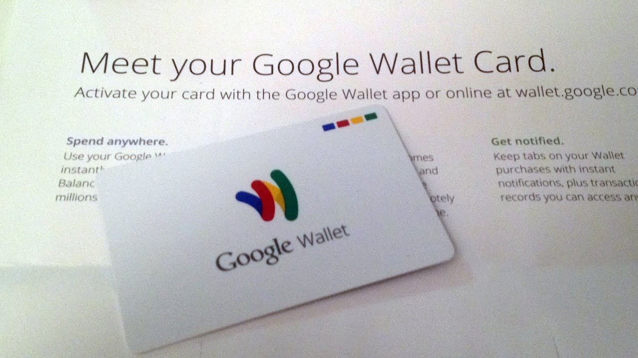 My Google Wallet Card Has Arrived!